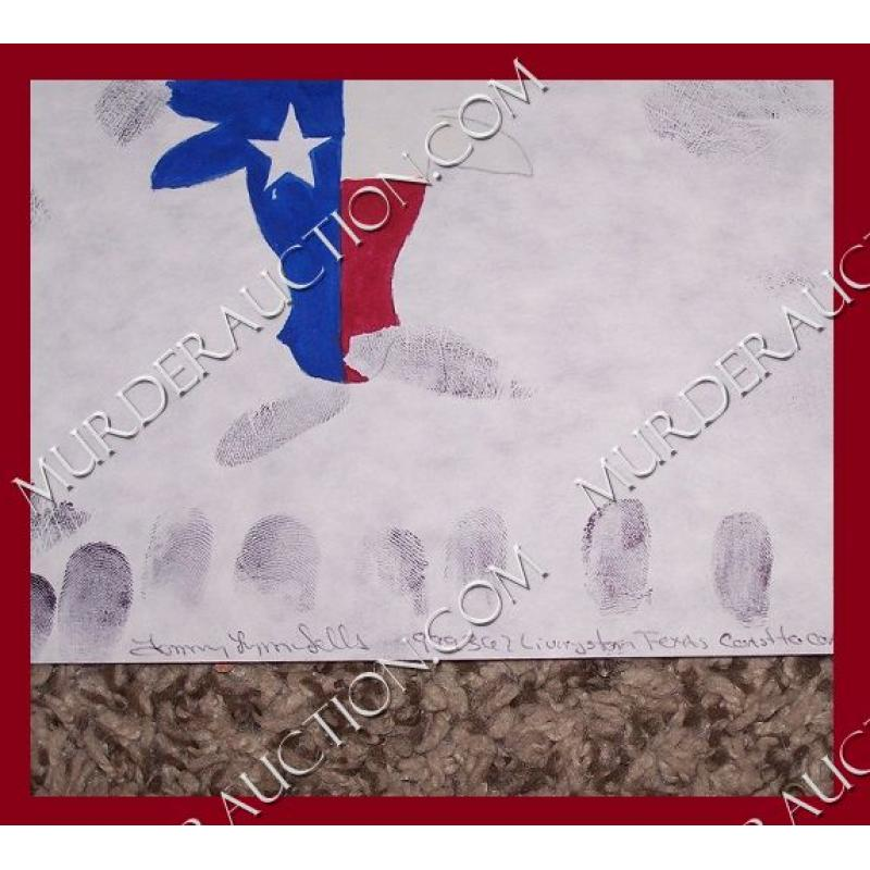 TOMMY LYNN SELLS handprints/painting 9×12 EXECUTED