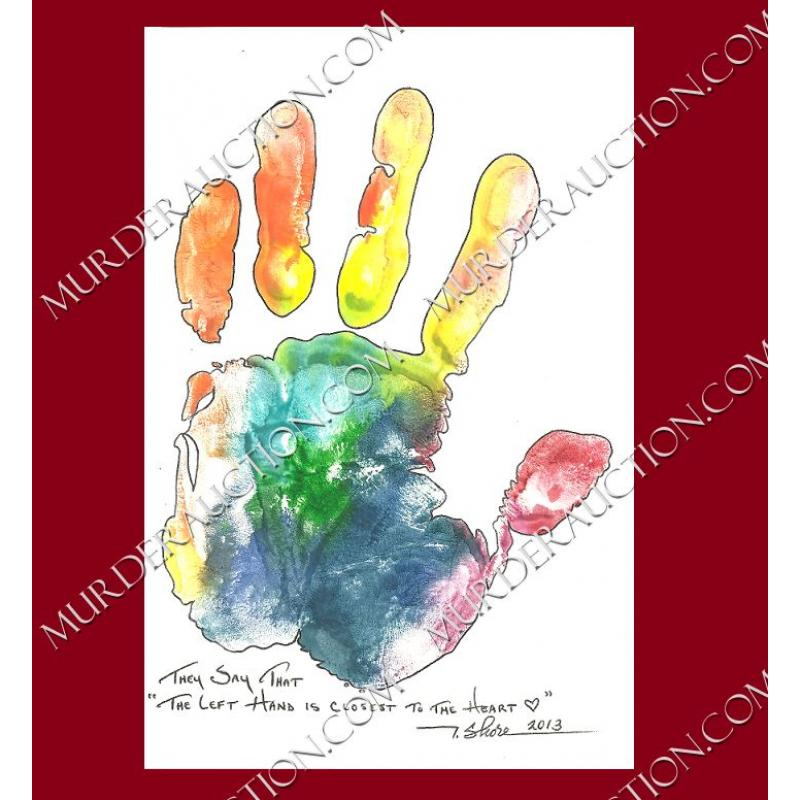 ANTHONY SHORE hand print card from 2013 EXECUTED