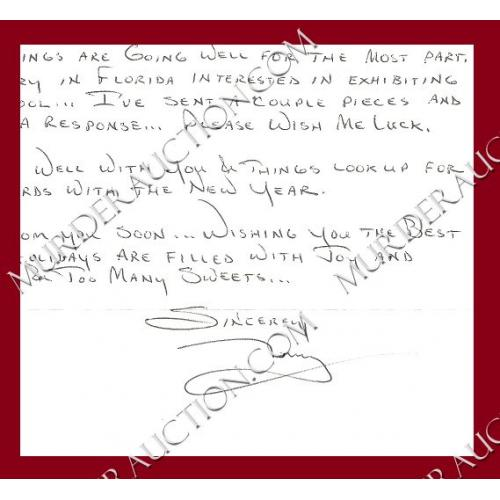ANTHONY SHORE letter/envelope 12/18/2005 EXECUTED