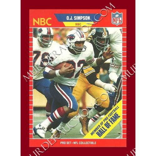 O.J. SIMPSON Hall of Fame sports card