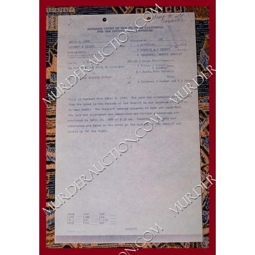 SIRHAN SIRHAN original court document 4/9/1969