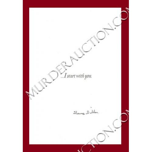THOMAS DILLON greeting card DECEASED