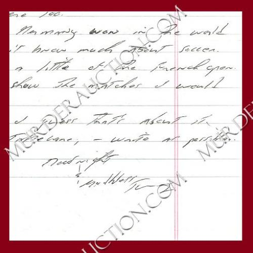 THOMAS WHISENHANT letter/envelope 6/9/2006 EXECUTED
