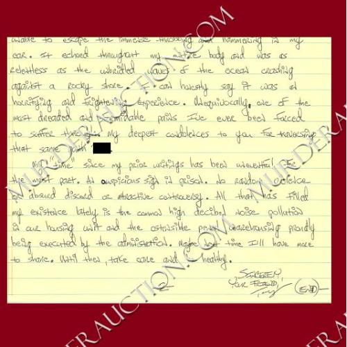 TONY AMATI letter/envelope 9/10/2006