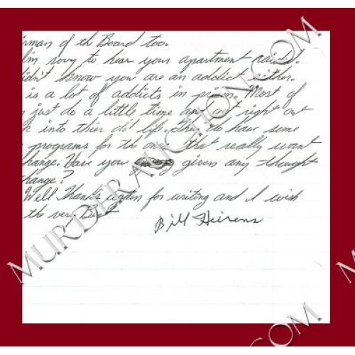 WILLIAM HEIRENS letter/envelope 7/23/2010 DECEASED