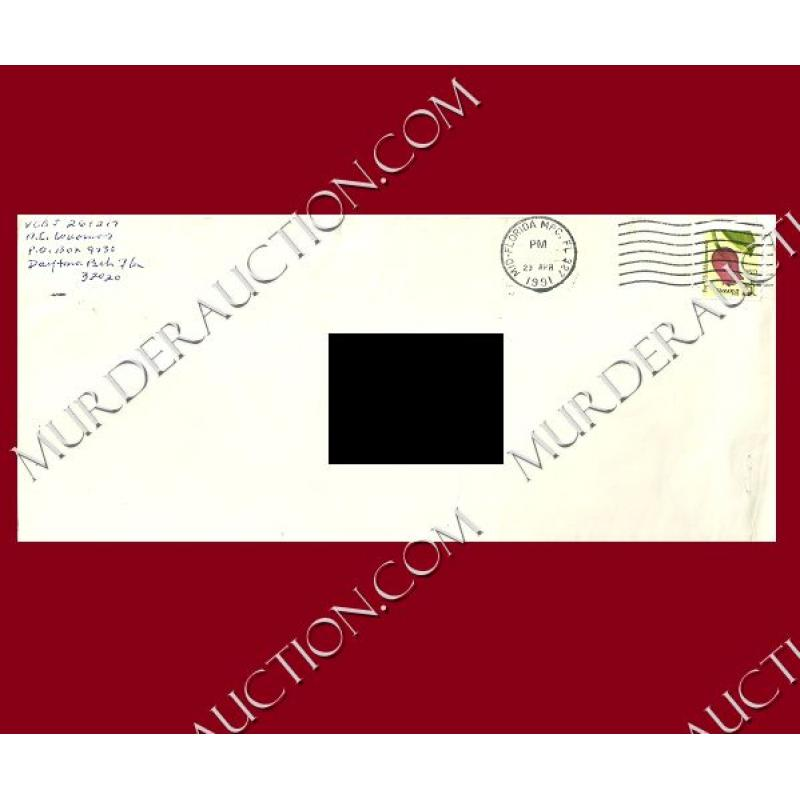 AILEEN WUORNOS letter/envelope 4/22/1991 EXECUTED