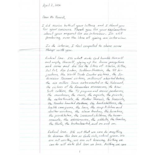 Rare, Authentic 9-pg handwritten prison letter/envelope from Spokane Serial Killer Robert Lee Yates, Jr.